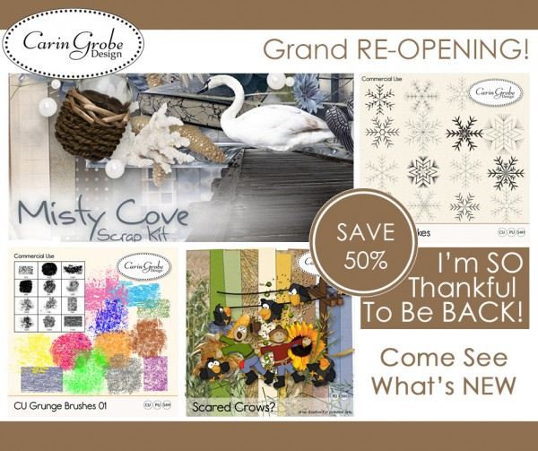 Advertising template for Digital Scrapbooking Studio