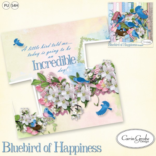 Carin Grobe Design Bluebird of Happiness Freebie
