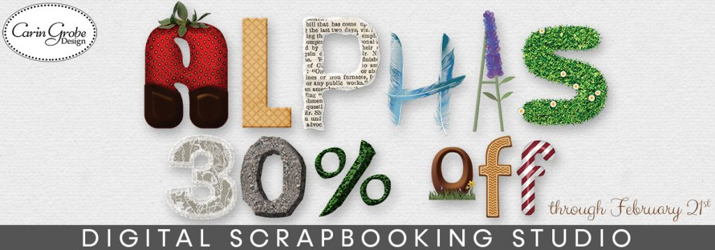 Carin Grobe Design - Alpha Sale