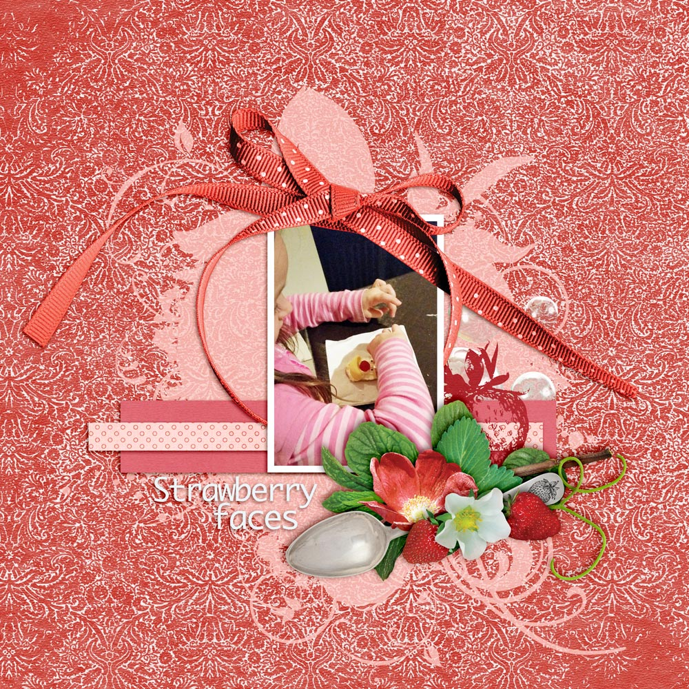 Carin Grobe Design - Strawberry Mint Layout 1 by Denise