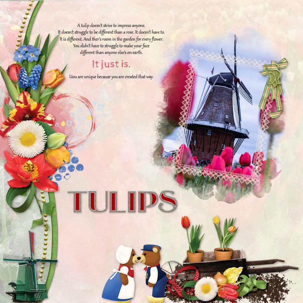 Carin Grobe Design - Tulip Time layout 1 by Elly