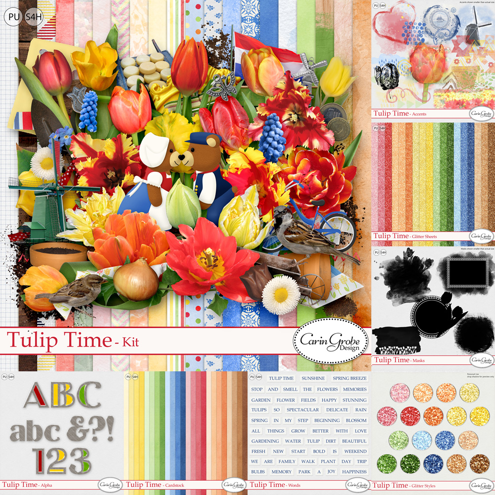 Tulip Time Collection by Carin Grobe Design
